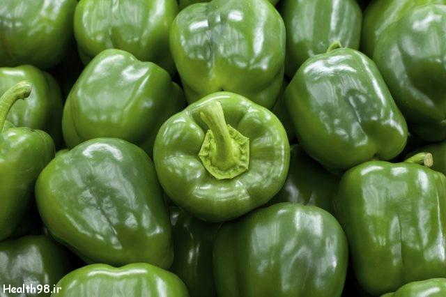 خواص و ویتامین های فلفل دلمهای سبز